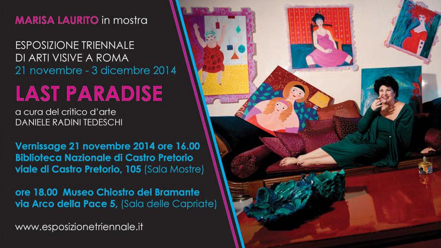 Marisa in mostra all'Esposizione Triennale di Roma
